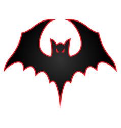 bat with wings spread logo vector image