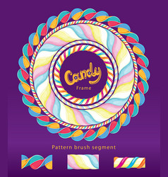 candy frame set vector image vector image