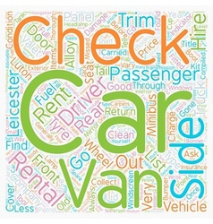Checks Carried Out By Rental Companies text vector image