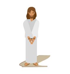 jesus christ sentenced death - via crucis vector image