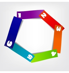 Concept of colorful circular banners vector image vector image