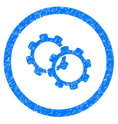 gears rounded grainy icon vector image