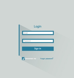 login form vector image