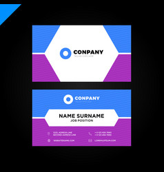 modern and creative business card background vector image