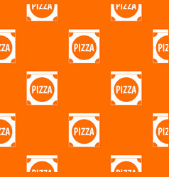 pizza box cover pattern seamless vector image vector image