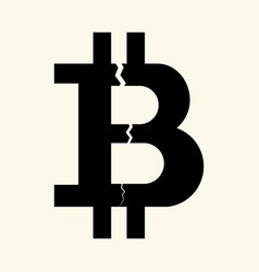 symbol of the digital crypto currency bitcoin with vector image vector image