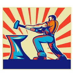 blacksmith hammer vector image vector image