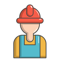 construction worker icon cartoon style vector image vector image
