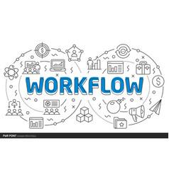 lines template workflow vector image