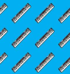 Pattern seamless synthesizer or piano vector image