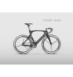 realistic racing bicycle road racing vector image vector image