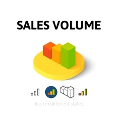 Sales volume icon in different style vector image