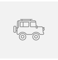 Car line icon vector image vector image