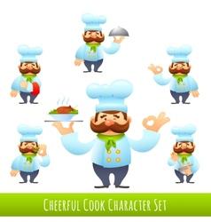 Cook Cartoon Characters vector image