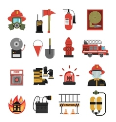 Fire Icon Flat vector image vector image