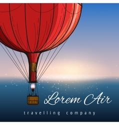 Hot air balloons travelling company poster vector image vector image