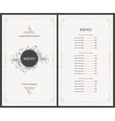 menu in retro style vector image vector image