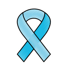 scribble awareness ribbon vector image