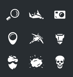 set of military intelligence icons vector image vector image