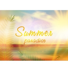 Summer paradise creative summer design vector image
