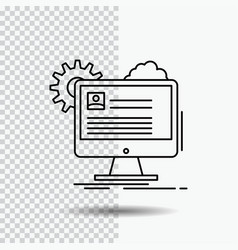 account profile report edit update line icon on vector image
