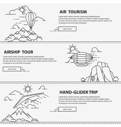 Airship tourism banner vector