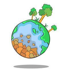 Bad environment world collection doodles vector