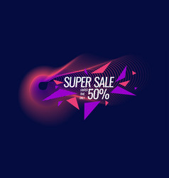 best banner sale the original poster discount vector image
