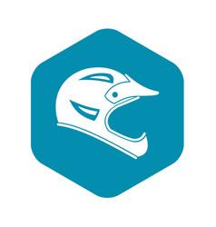 Bicycle helmet icon simple style vector