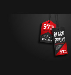 black friday realistic paper price tag sale price vector image