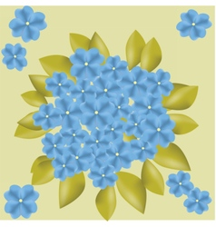 Blue flowers background vector