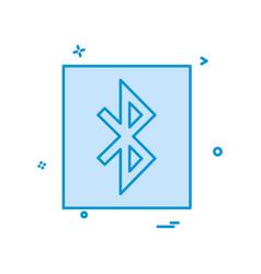 bluetooth icon design vector image