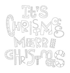 Christmas greetings decorative black and white vector