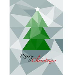 Christmas low poly card vector