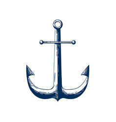 classic sea anchor nautical vector image