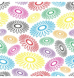 Colorful simple abstract flower seamless light vector