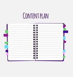 Content plan flat vector