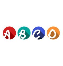 Creative capital letters a b c d inscribed vector