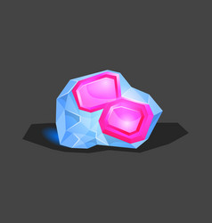 Crystalline stone or gem and precious gemstone for vector