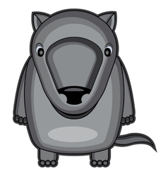 Cute baby wolf vector