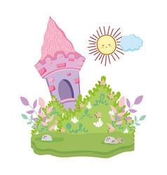 cute fairytale landscape scene vector image