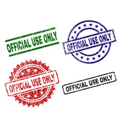 damaged textured official use only stamp seals vector image