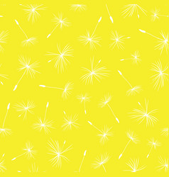 dandelion seeds seamless pattern repeat vector image