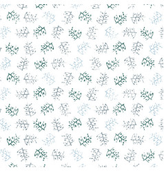 decorative pattern with drawn branches background vector image
