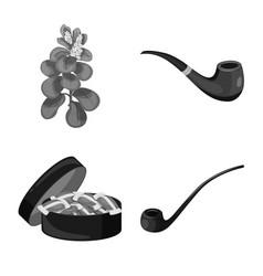 Design health and nicotine icon set of vector
