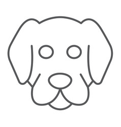 Dog thin line icon animal and zoo mammal sign vector