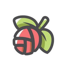 eco bud organic icon cartoon vector image