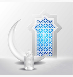 Eid mubarok islamic background greeting card vector