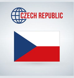 Flag of the czech republic isolated on modern vector