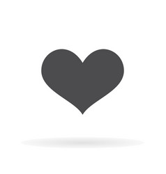 flat icon heart for web business finance and vector image
